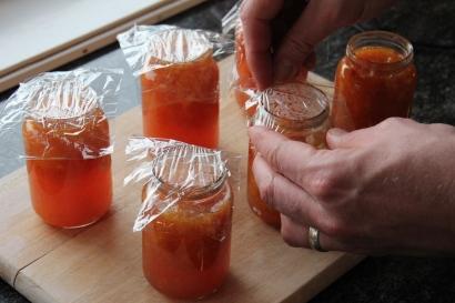 Sealing the jars