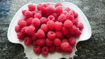 Raspberries from last year's harvest