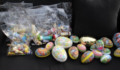 They found all the eggs and prizes were ready