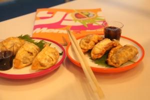 Dumplings at Yo Sushi