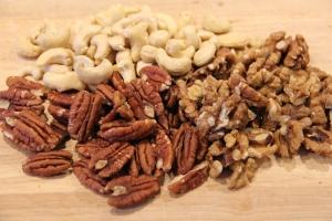 Pecan, walnuts and cashews