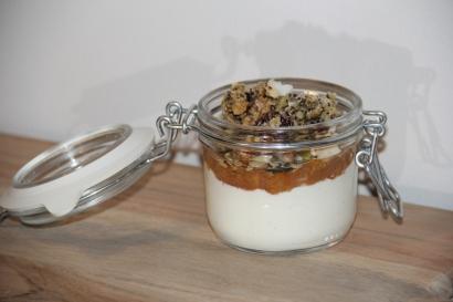 Quark with homemade blood orange marmalade and fresh granola